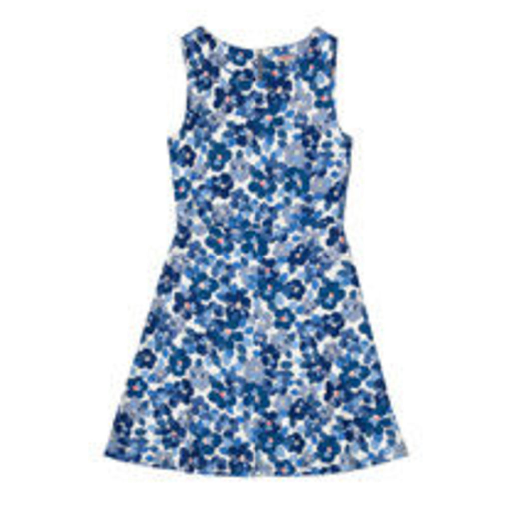 Big Painted Pansies Sleeveless Dress