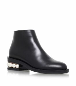 Casati Pearl Heel Ankle Boots