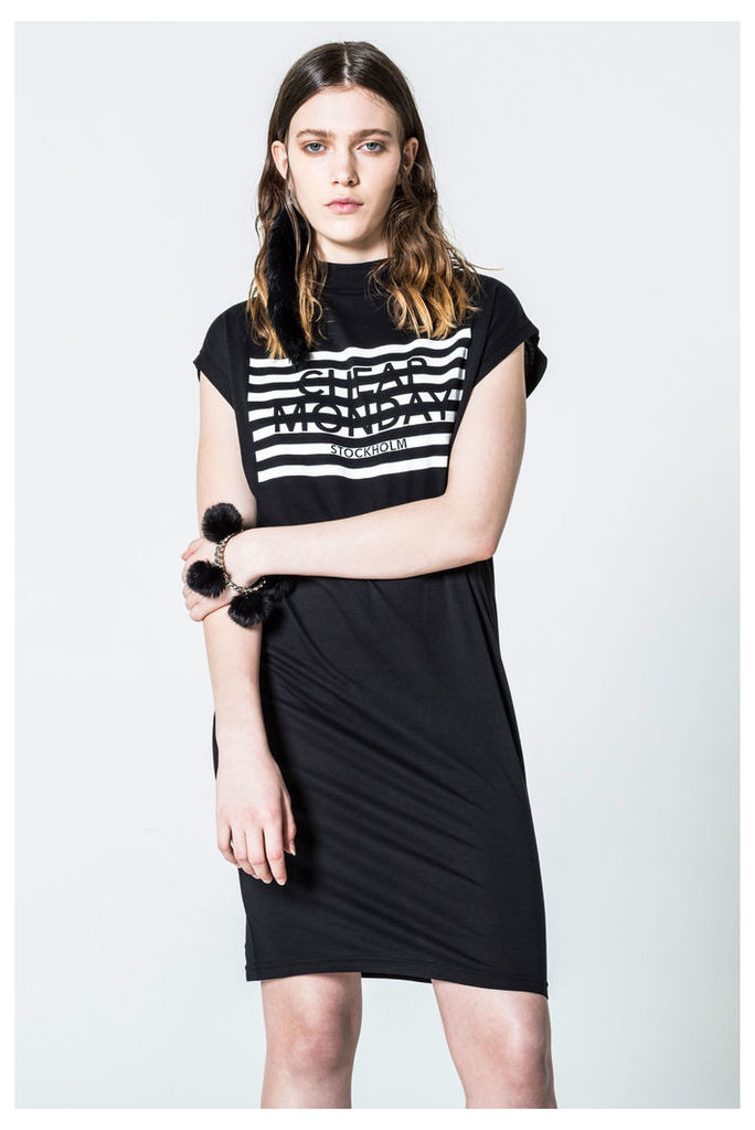 Capsule Stripe Logo Dress