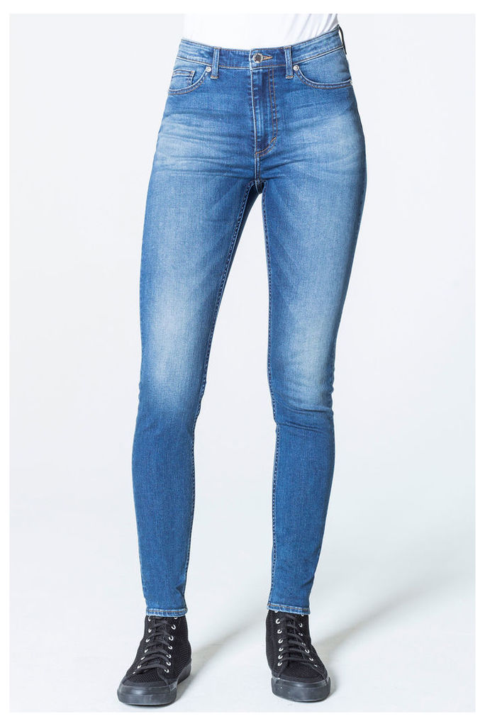 High Skin Snap Pop Blue Jeans