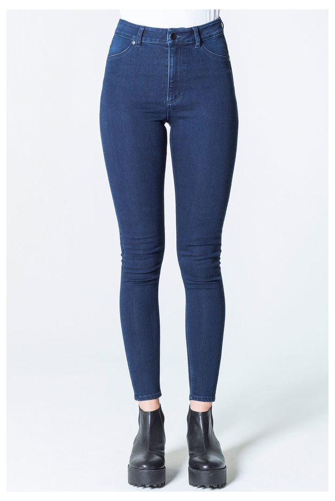 High Spray Indigo Satin Jeans