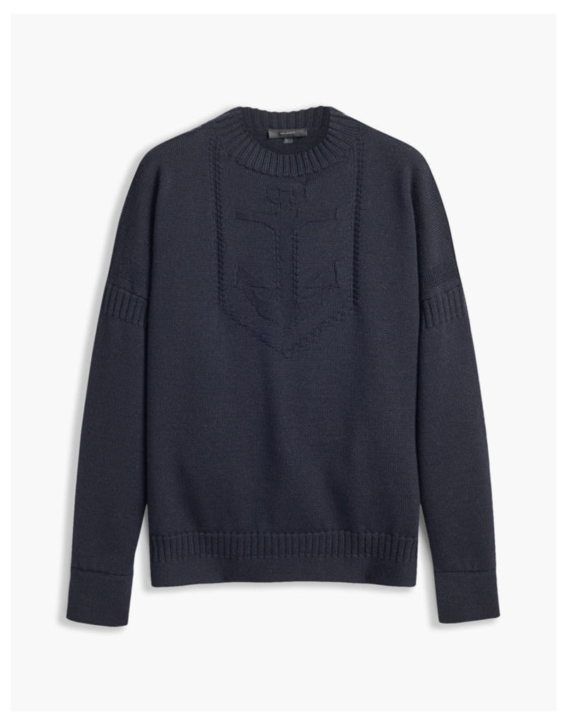Belstaff Sabrine Mock Neck Jumper Blue
