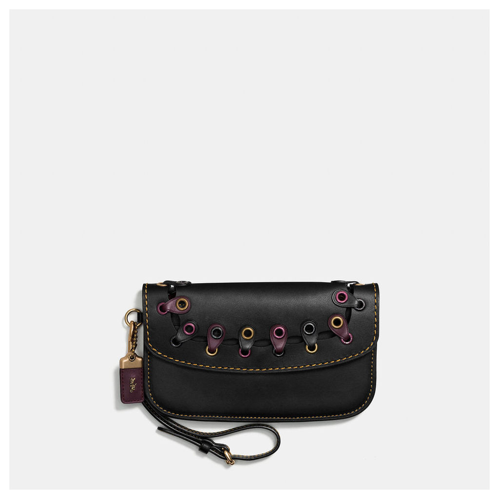 Coach Clutch In Link Glovetanned Leather