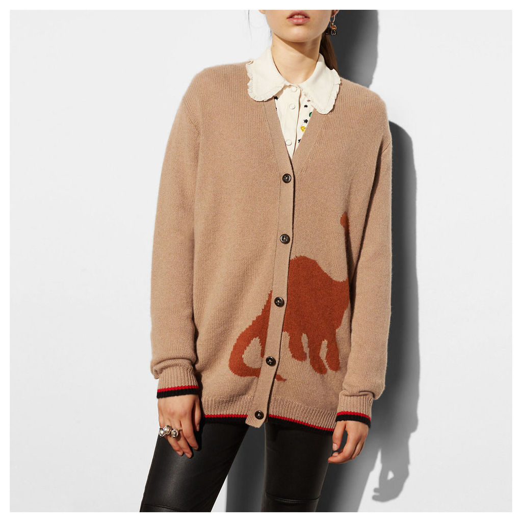 Coach Long Sleeve Cardigan With Dino