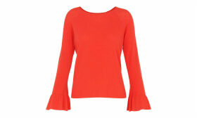 Frill Wide Sleeve Knit