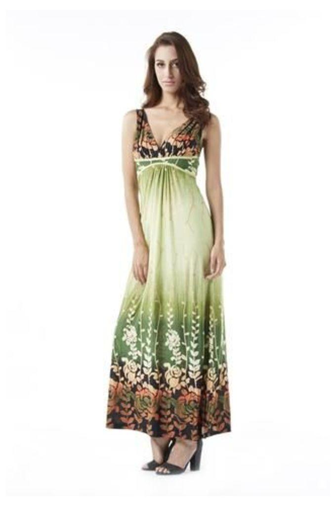 Jungle Print Maxi Dress
