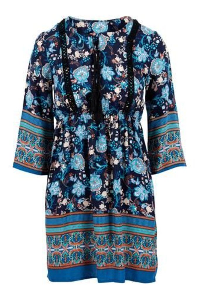 Eastern Style Print Kaftan Dress