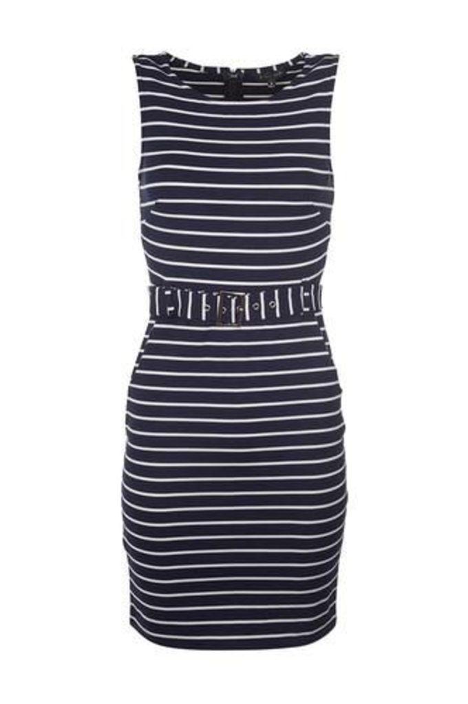 Striped Sleeveless Day Dress