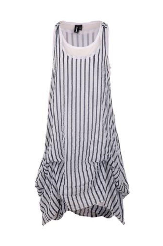 Striped Puffball Dress