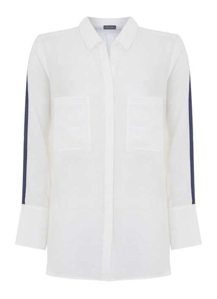 Ivory Stripe Sleeve Shirt