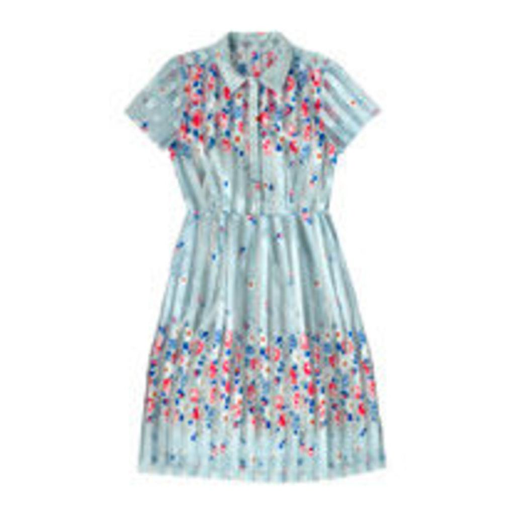 Daisies & Roses Border Shirt Dress