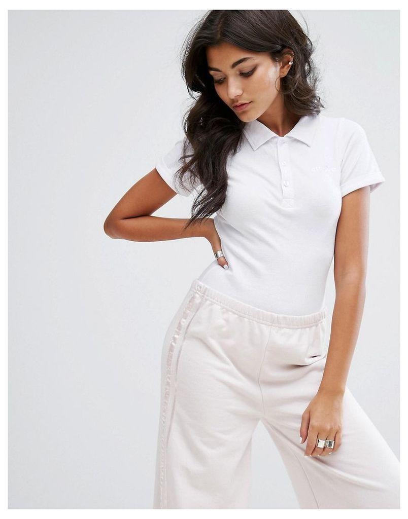 Ellesse Pique Polo Body With Tonal Embroidered Logo - White