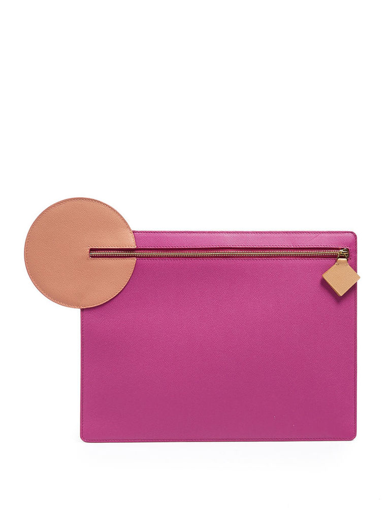 Alpin pebbled-leather clutch