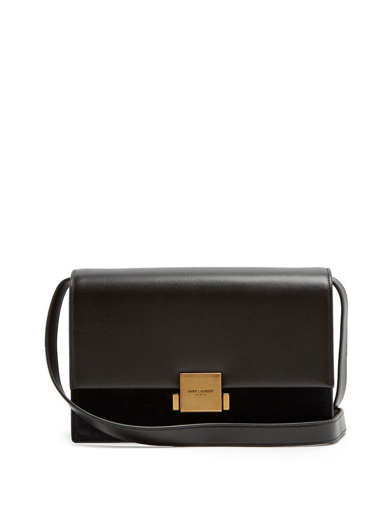 Bellechasse medium leather and suede bag