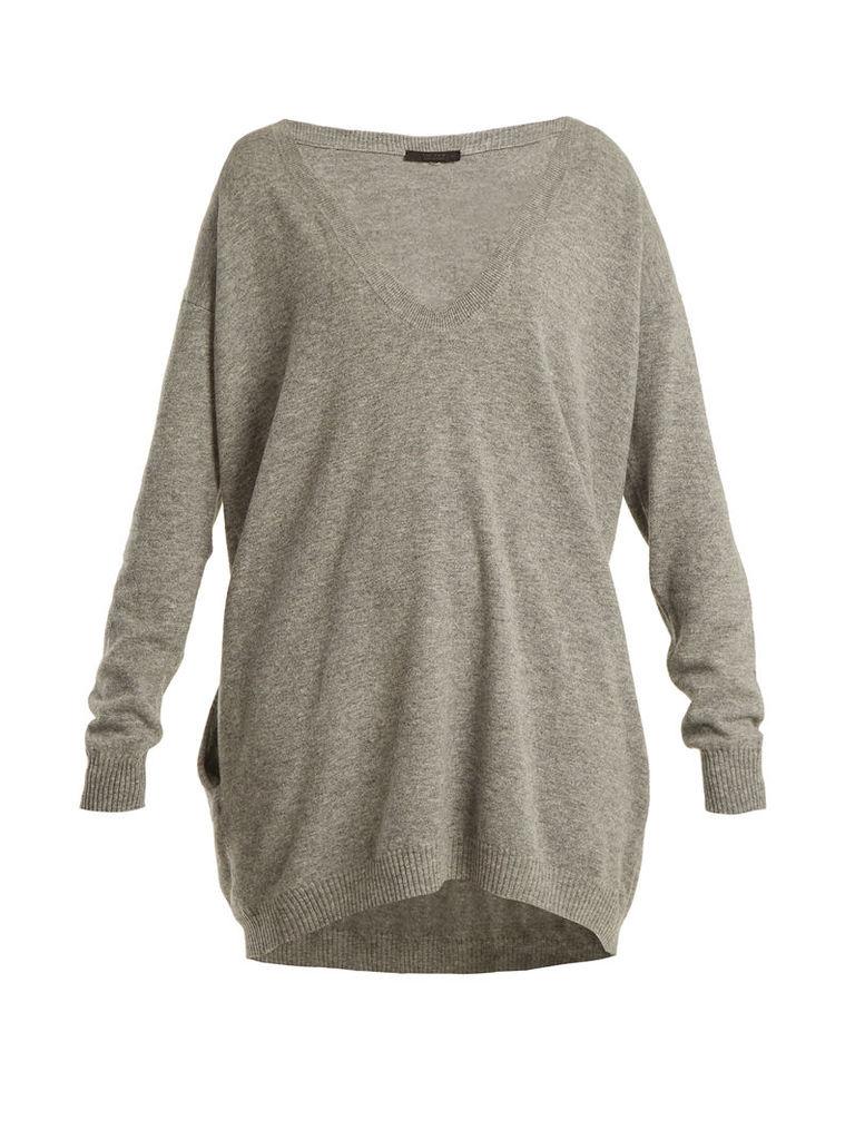Maita deep V-neck wool and cashmere-blend sweater