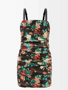 Bliss And Mischief - Ruffled-cuff Poplin Blouse - Womens - Pink