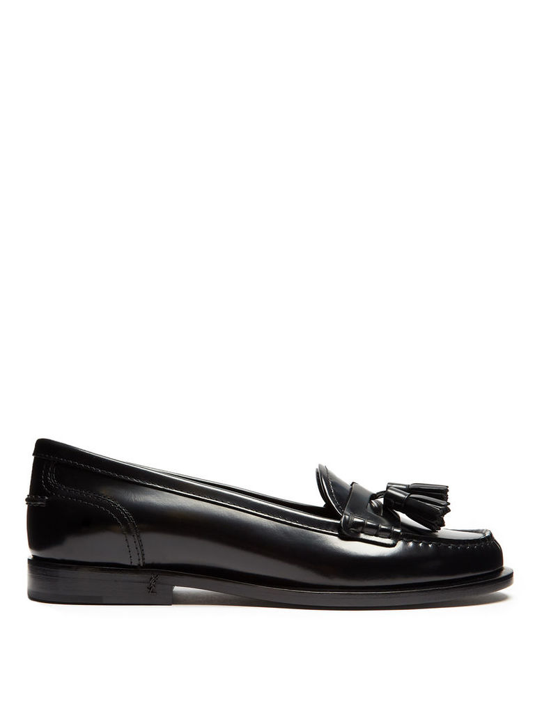 Universite tasselled patent-leather loafers