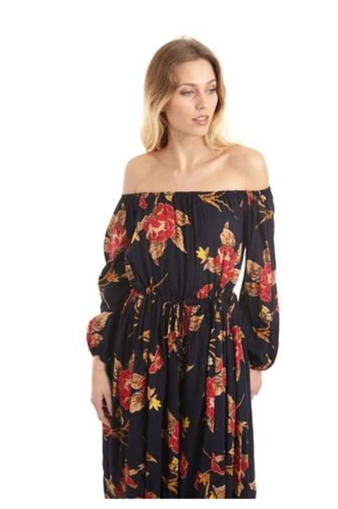 Shoulder Reveal Gypsy Dress