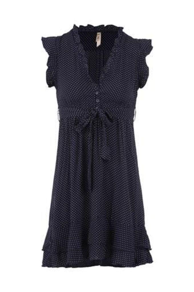 Polka Dot Frill Tea Dress