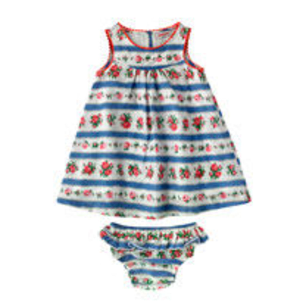 Ribbon Rose Baby Dress And Briefs