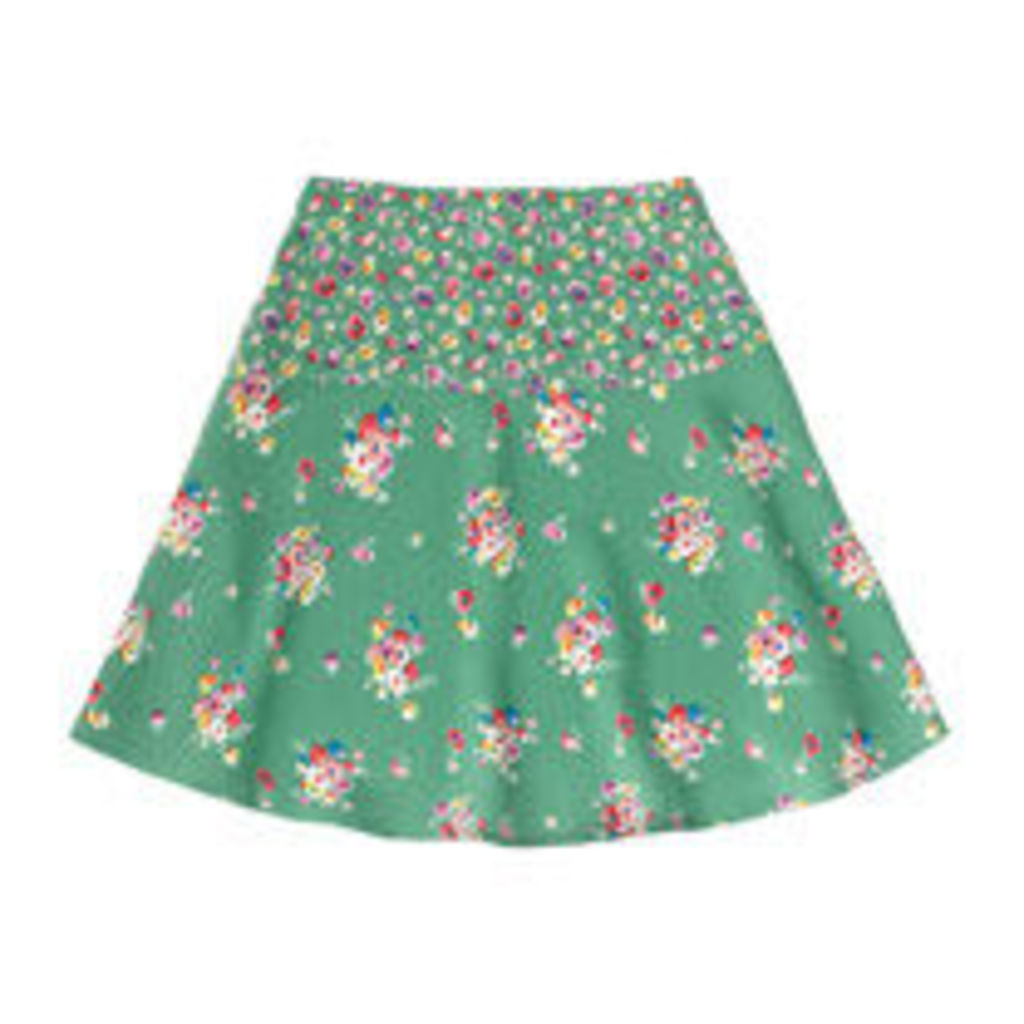 Mallory Bunch Flared Crepe Skirt