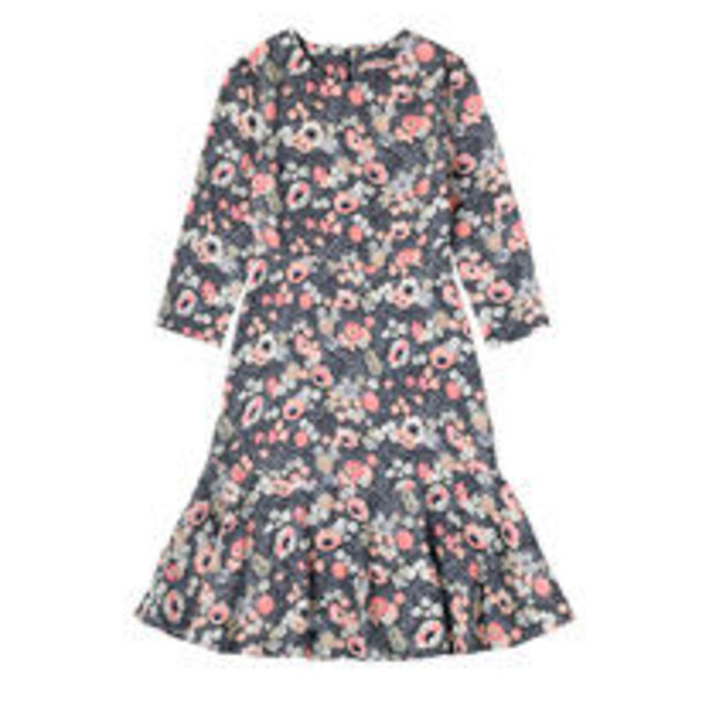 Winfield Flowers Crepe Dress