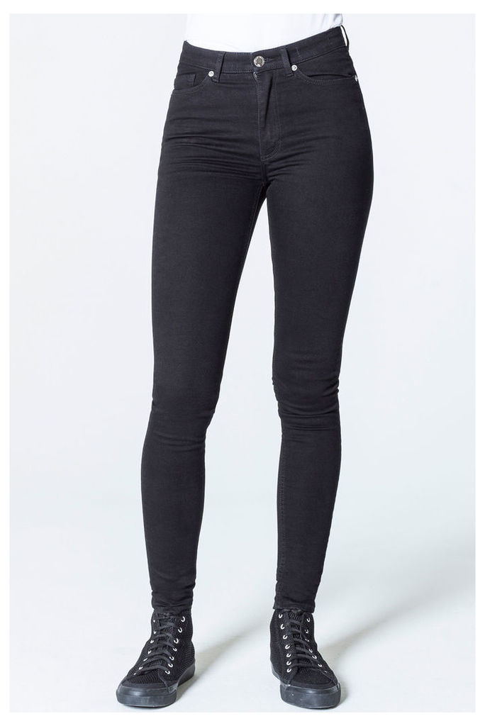 High Skin Snap Black Coal Jeans