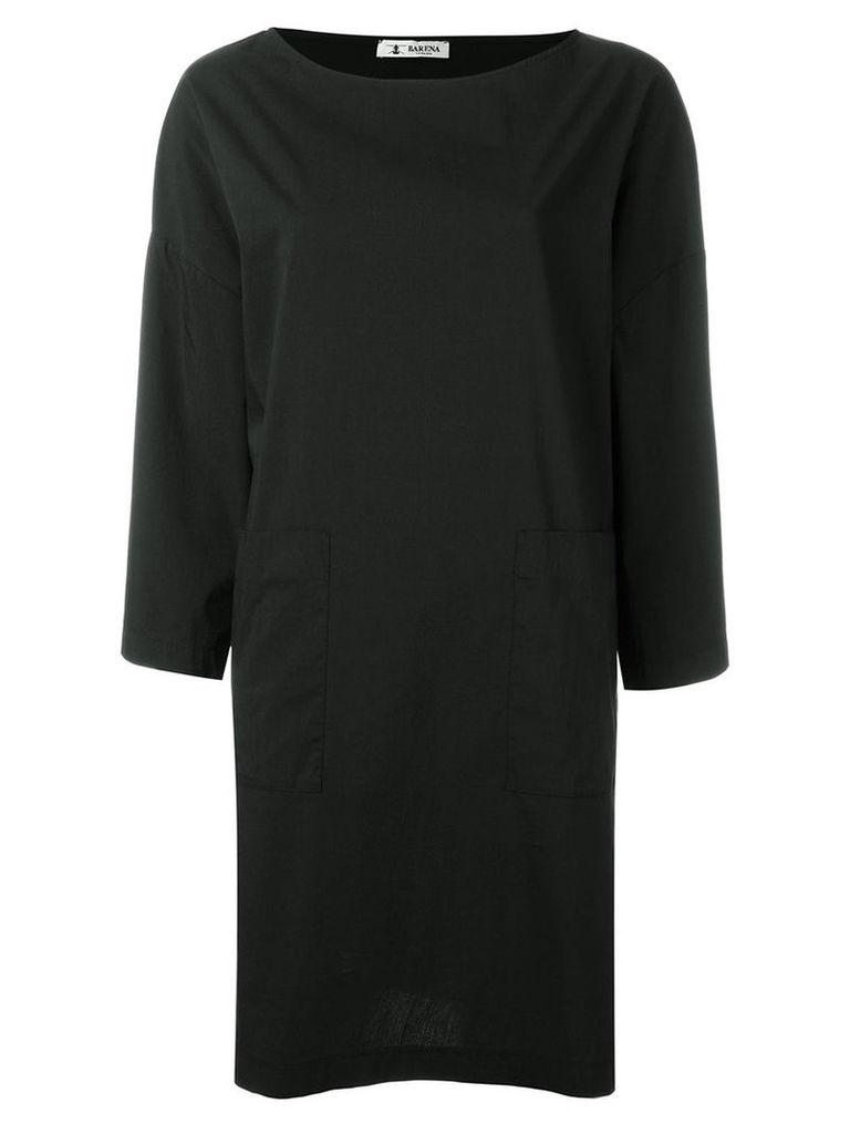 Barena - longsleeved shift dress - women - Cotton/Polyester/Spandex/Elastane - 44, Black