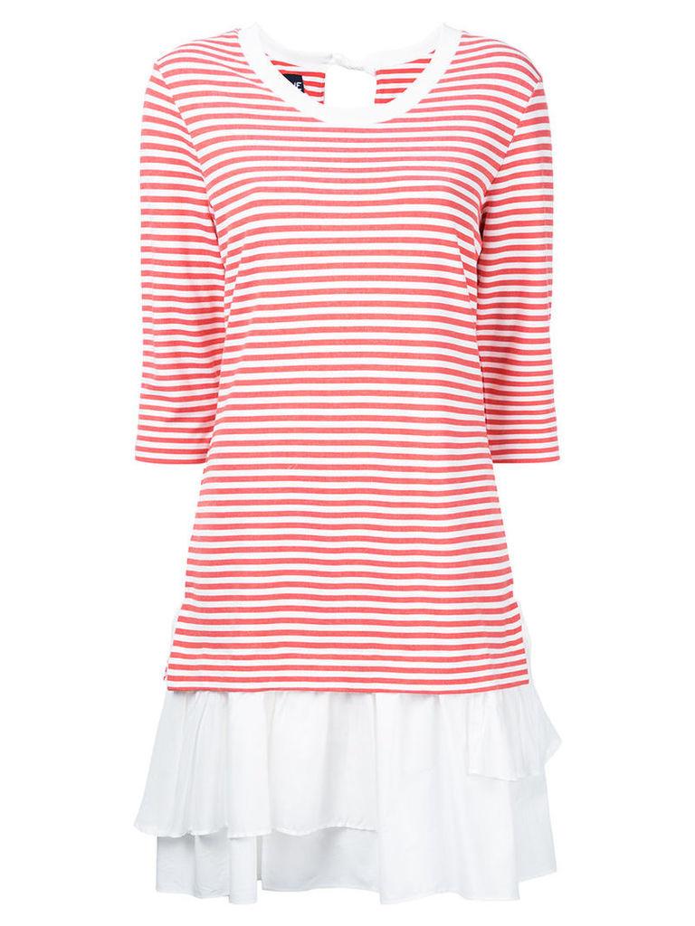 Boutique Moschino - stripe layered dress - women - Nylon/Spandex/Elastane/Rayon - 44, Red
