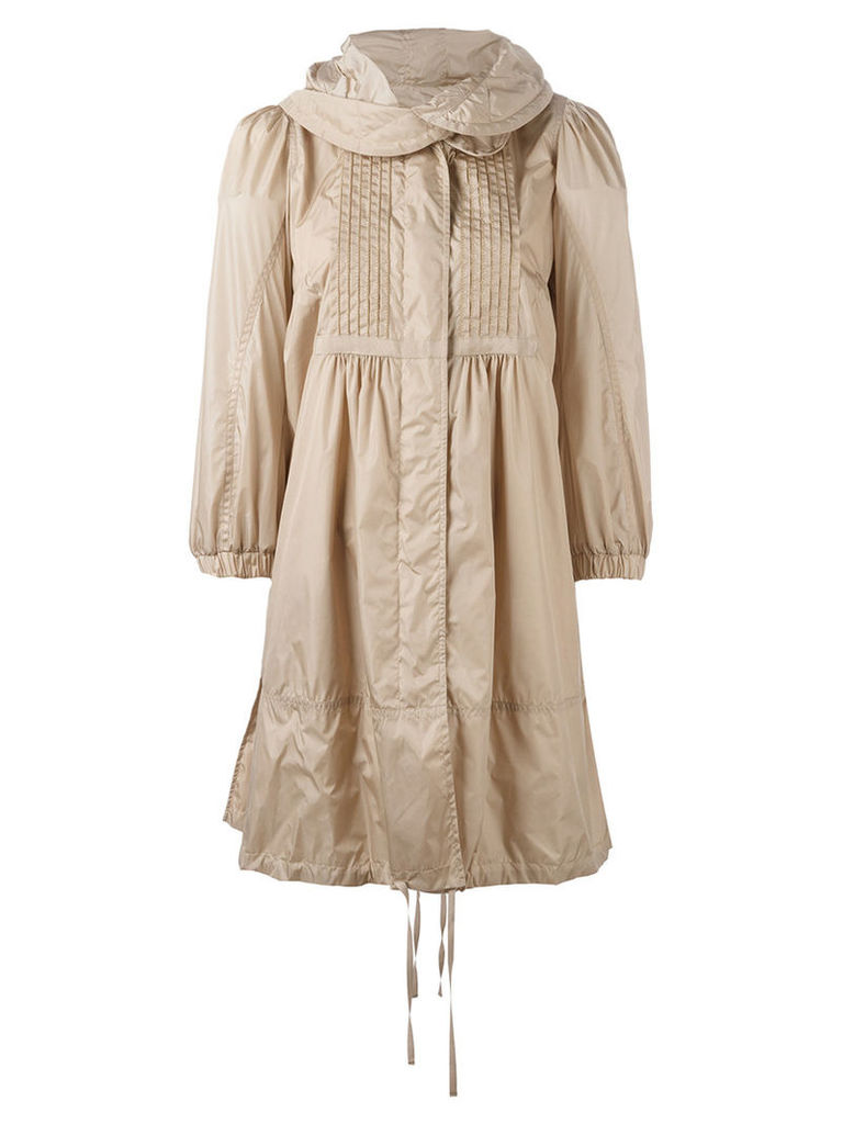 Moncler - Cabannes mid-length coat - women - Polyamide/Polyester - 2, Nude/Neutrals