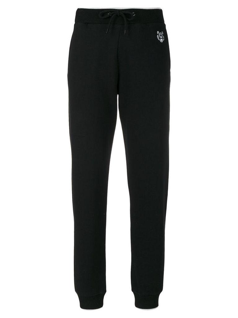 Kenzo - Mini Tiger track pants - women - Cotton - M, Black