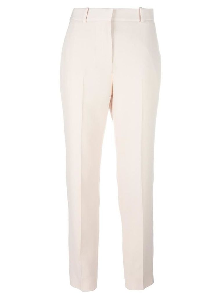 Givenchy - classic tailored trousers - women - Wool - 34, Pink/Purple