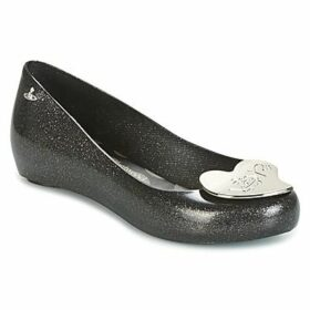 Melissa  VW ULTRAGIRL 17 BLACK GLITTER LOVE  women's Shoes (Pumps / Ballerinas) in Black