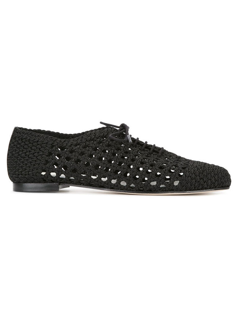 Repetto - crochet oxford shoes - women - Leather/Cotton - 36, Black