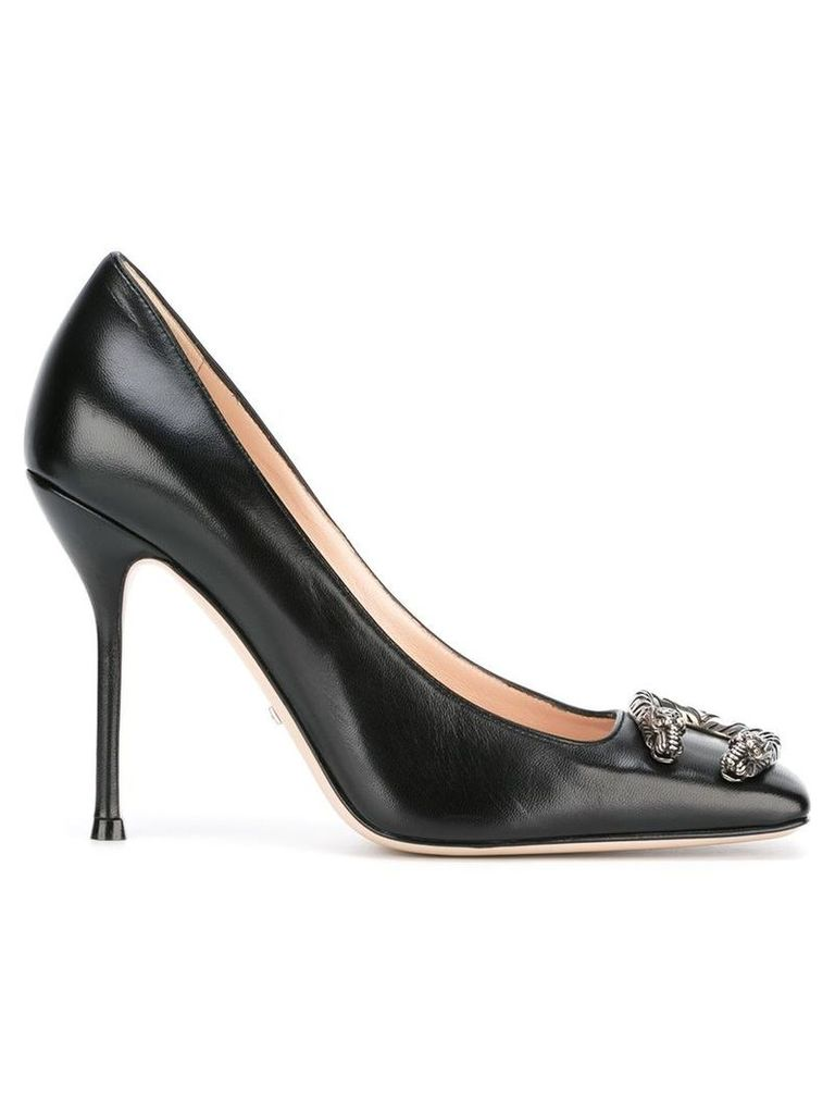 Gucci - Malaga pumps - women - Leather/Metal (Other) - 39, Black