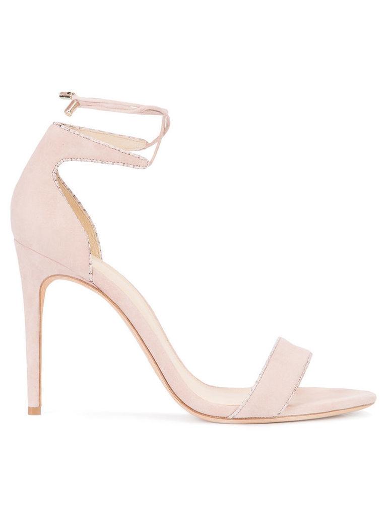Alexandre Birman - lace-up ankle sandals - women - Leather - 39, Pink/Purple