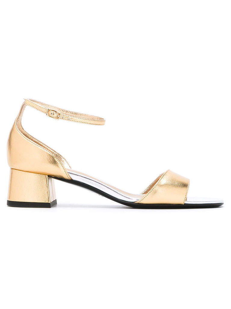 Michel Vivien - block heel sandals - women - Leather/Nappa Leather - 40, Grey