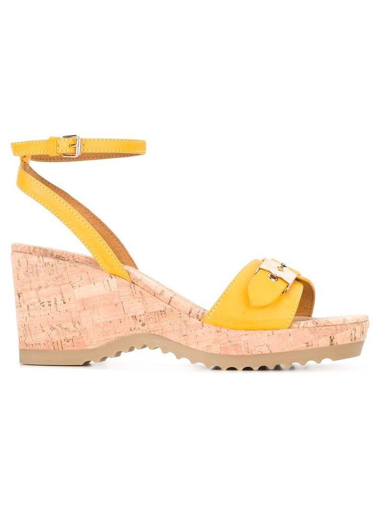 Stella McCartney - Linda sandals - women - Cork/Artificial Leather/rubber - 40, Yellow/Orange