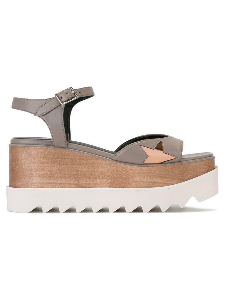 Stella McCartney - star cut-out sandals - women - Polyester/Polyurethane/rubber - 37, Grey