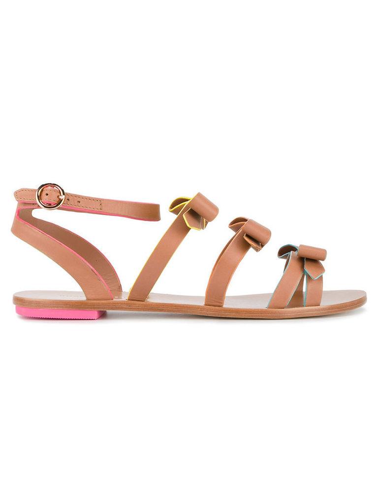 Sophia Webster - Samara flat sandals - women - Leather - 41, Brown