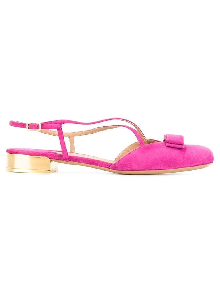 Salvatore Ferragamo - Vara bow sandals - women - Leather/Suede - 5.5, Pink/Purple