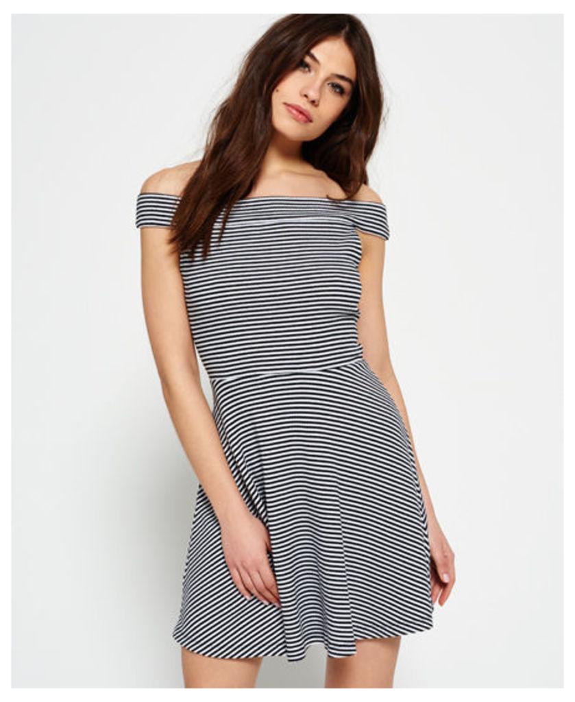 Superdry Bardot Rib Skater Dress