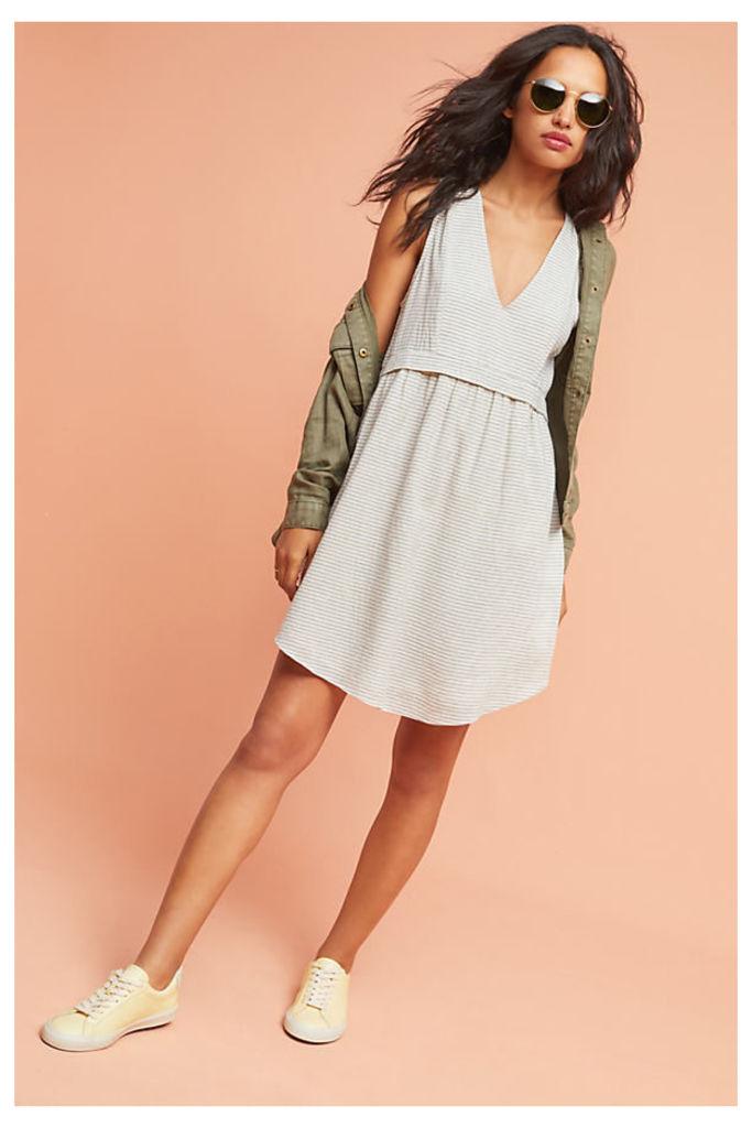 Laguna Striped Dress, Ivory - Ivory, Size L