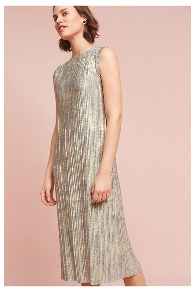 Corrina Metallic Dress - Grey, Size M