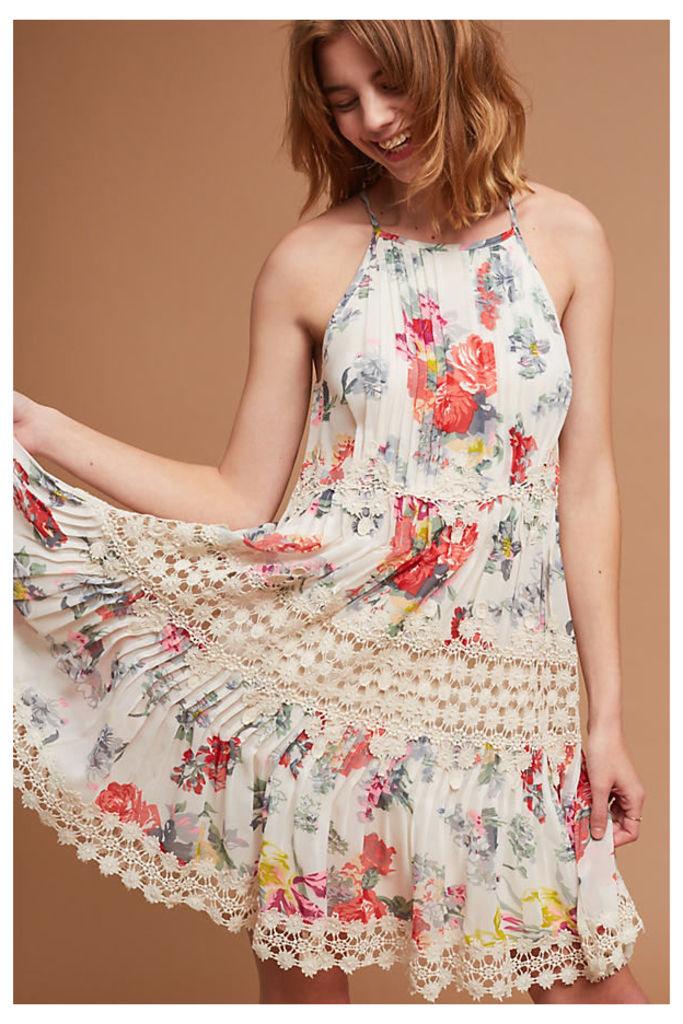 Kalila Floral Dress - Ivory, Size L