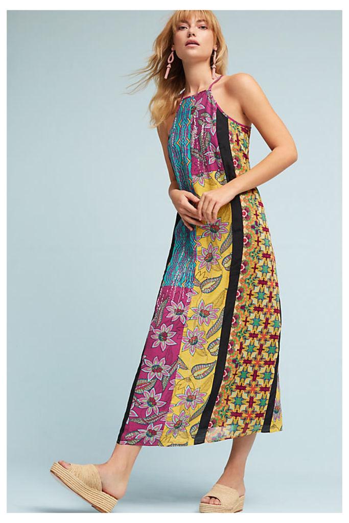 Henrie Beaded Maxi Dress, Yellow - Yellow Motif, Size L