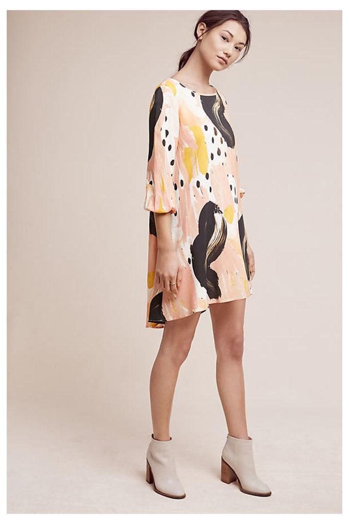 Gallerina Tunic Dress - Neutral Motif, Size L