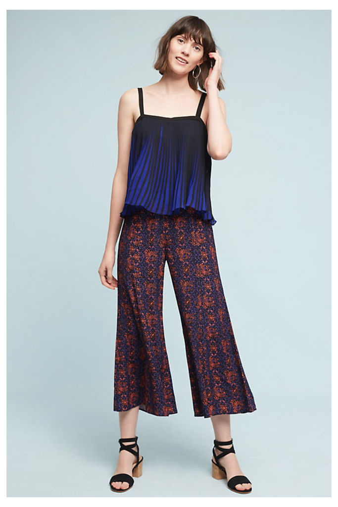 Tessie Flare Trousers - Navy, Size 16