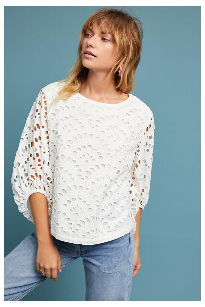 Kalisa Lace Top, White - White, Size S