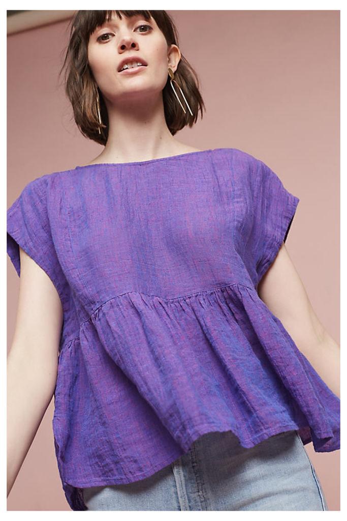 Narcissus Babydoll Blouse, Purple - Purple, Size Xl